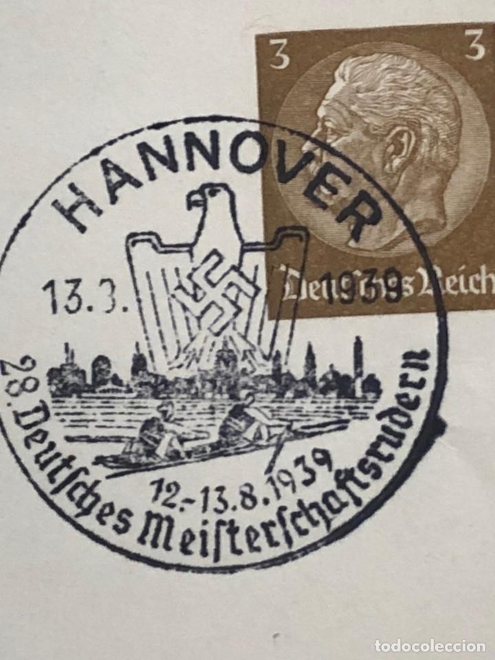Postales: Colección de 95 cancelaciones del tercer reích, sello hindembug - Foto 9 - 161831650