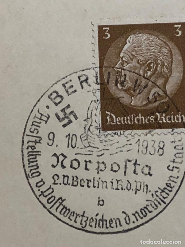 Postales: Colección de 95 cancelaciones del tercer reích, sello hindembug - Foto 15 - 161831650