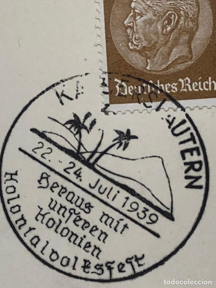 Postales: Colección de 95 cancelaciones del tercer reích, sello hindembug - Foto 18 - 161831650