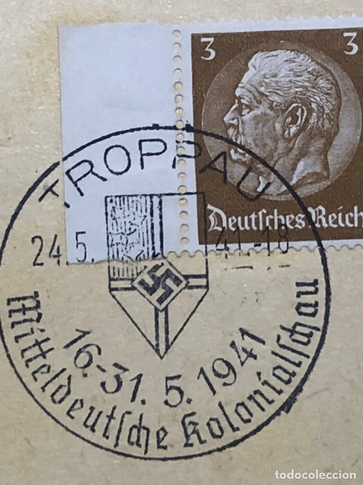 Postales: Colección de 95 cancelaciones del tercer reích, sello hindembug - Foto 26 - 161831650