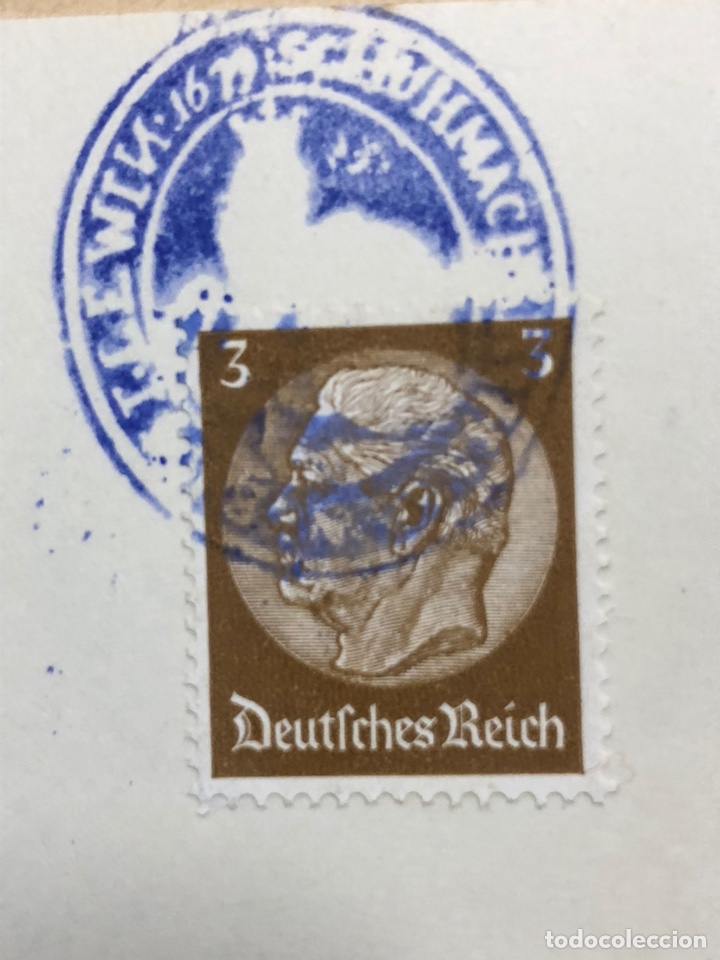 Postales: Colección de 95 cancelaciones del tercer reích, sello hindembug - Foto 32 - 161831650