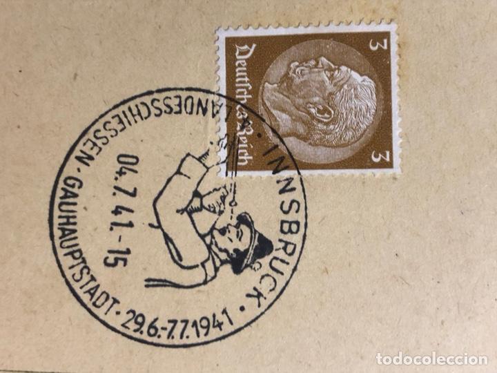 Postales: Colección de 95 cancelaciones del tercer reích, sello hindembug - Foto 33 - 161831650
