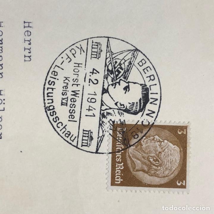 Postales: Colección de 95 cancelaciones del tercer reích, sello hindembug - Foto 47 - 161831650