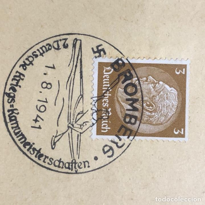 Postales: Colección de 95 cancelaciones del tercer reích, sello hindembug - Foto 48 - 161831650
