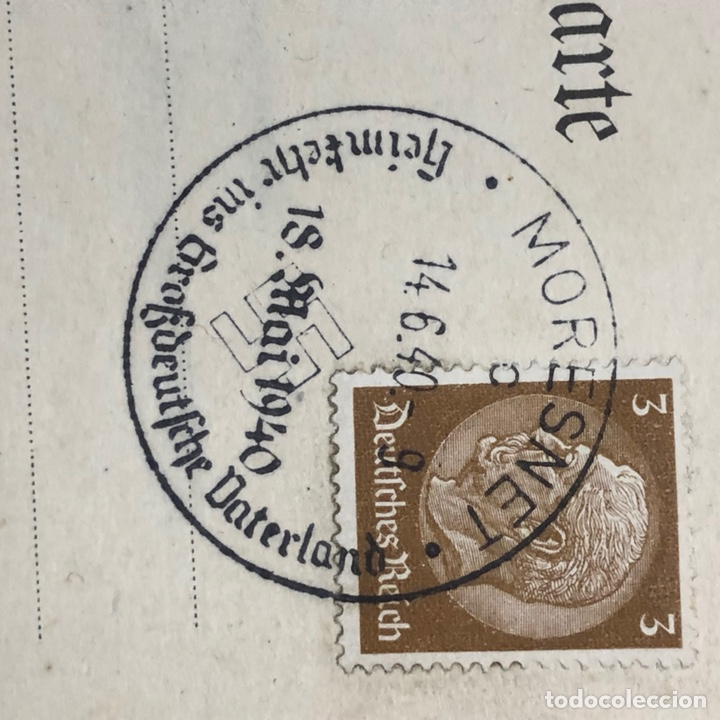 Postales: Colección de 95 cancelaciones del tercer reích, sello hindembug - Foto 54 - 161831650