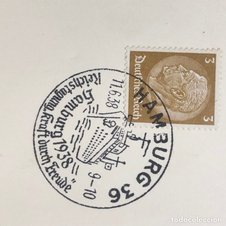 Postales: Colección de 95 cancelaciones del tercer reích, sello hindembug - Foto 64 - 161831650