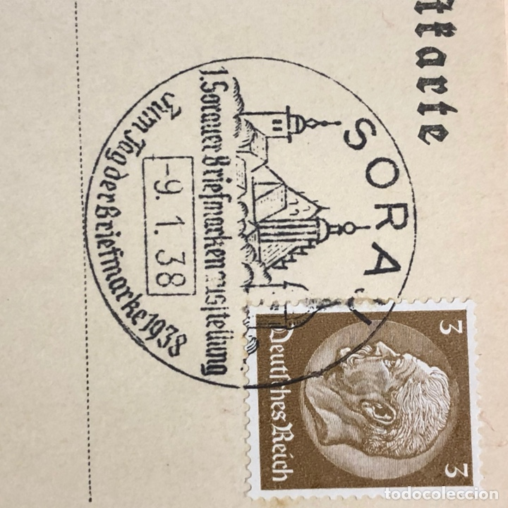 Postales: Colección de 95 cancelaciones del tercer reích, sello hindembug - Foto 66 - 161831650