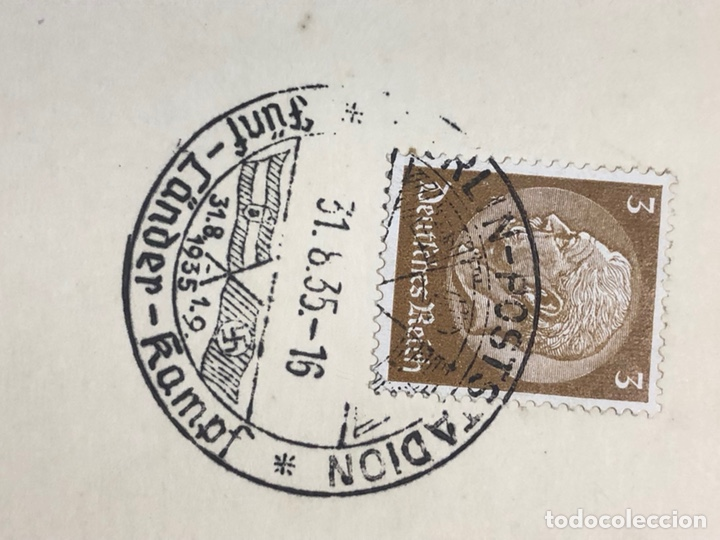 Postales: Colección de 95 cancelaciones del tercer reích, sello hindembug - Foto 84 - 161831650