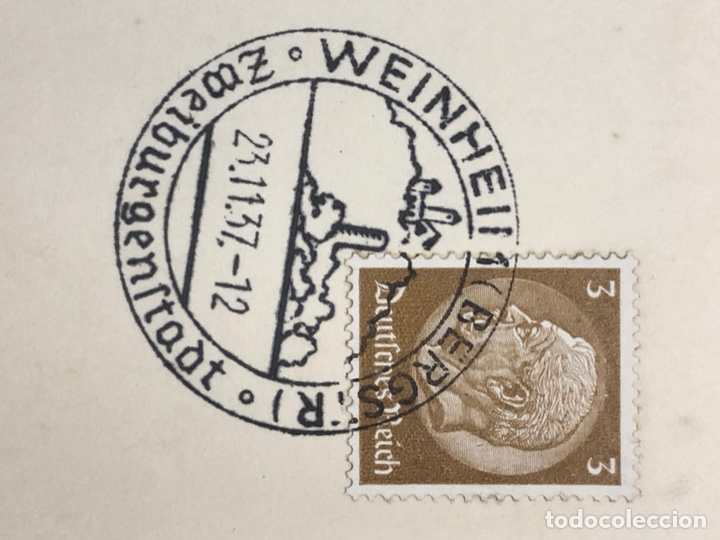 Postales: Colección de 95 cancelaciones del tercer reích, sello hindembug - Foto 86 - 161831650