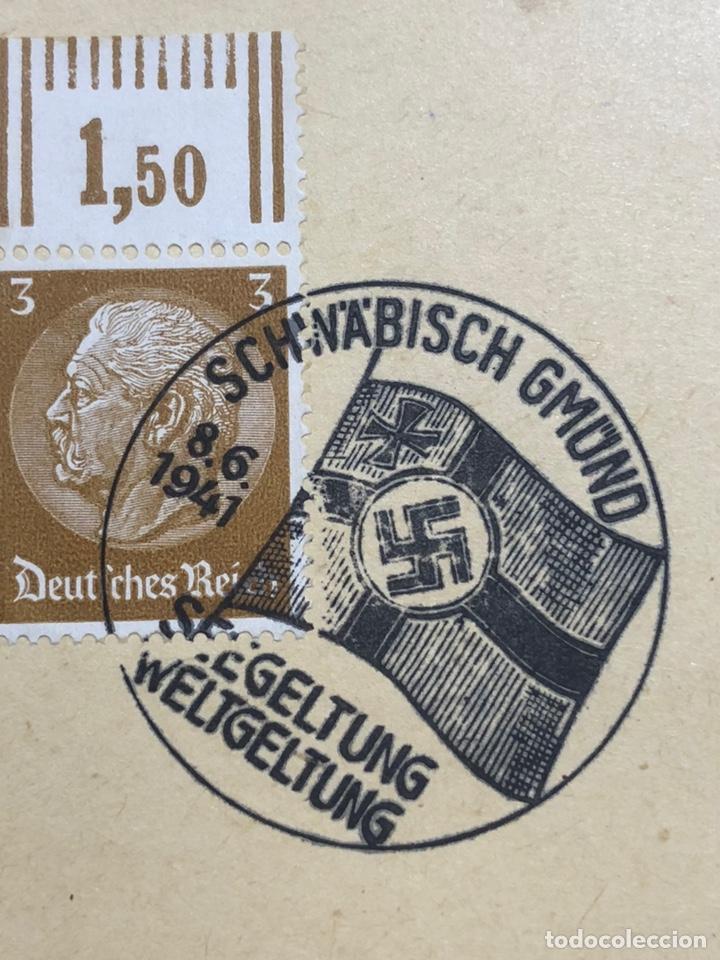 Postales: Colección de 95 cancelaciones del tercer reích, sello hindembug - Foto 95 - 161831650