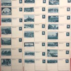 Postales: COLECCIÓN DE 23 POSTALES CON SELLO IMPRESO DE CANCILLER ALEMÁN EBERT, DEUTSCHES REÍCH. Lote 161832882