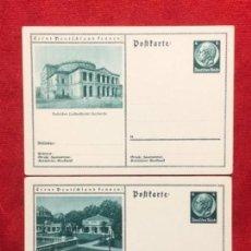 Postales: ALEMANIA LOTE DE TARJETAS CON SELLO IMPRESO DE HINDEMBURG, SIN CIRCULAR, TERCER REICH. Lote 161834074
