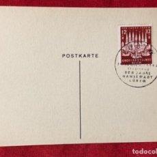 Postales: ALEMANIA TARJETA CIRCULADA DURANTE EL TERCER REÍCH.. Lote 161839538