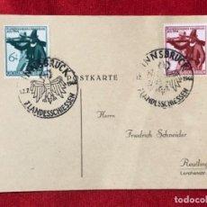 Postales: ALEMANIA TARJETA CIRCULADA DURANTE EL TERCER REÍCH.. Lote 161840250