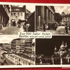 Postales: ALEMANIA, ANIVERSARIO DE BERLÍN 1937, POSTAL PROPAGANDÍSTICA DEL TERCER REICH. Lote 161852682