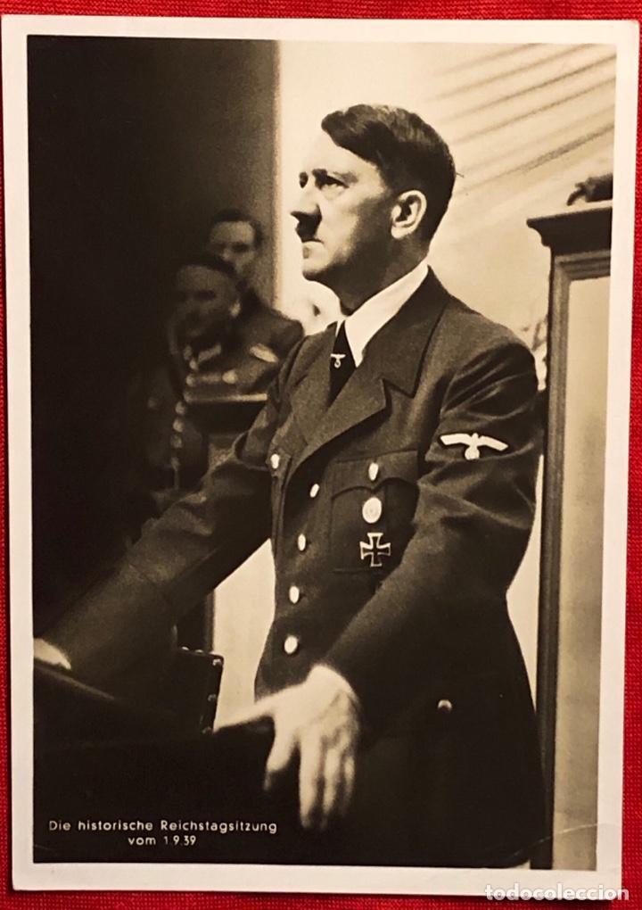 ALEMANIA, POSTAL PROPAGANDÍSTICA DE ADOLF HITER, TERCER REÍCH (Postales - Postales Temáticas - II Guerra Mundial y División Azul)