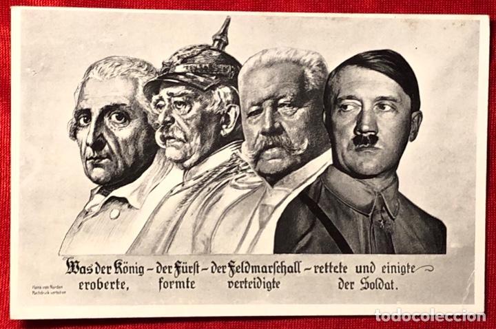 ALEMANIA, GRANDES DIRIGENTES, POSTAL PROPAGANDÍSTICA DE ADOLF HITER, TERCER REÍCH (Postales - Postales Temáticas - II Guerra Mundial y División Azul)