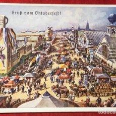 Postales: POSTAL ALEMANA PROPAGANDA DEL TERCER REÍCH, OKTOBERFEST MÚNICH 1938. Lote 161855394