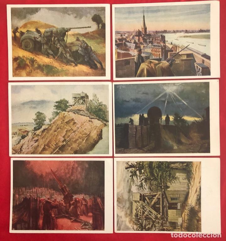 LOTE DE 6 POSTALES ORIGINALES LUFGAUKOMMANDOS SEGUNDA GUERRA MUNDIAL (Postales - Postales Temáticas - II Guerra Mundial y División Azul)