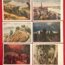 Postales - Lote de 6 postales originales Lufgaukommandos Segunda Guerra Mundial - 162477982