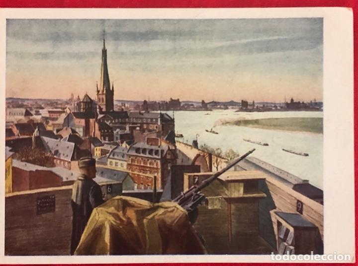 Postales: Lote de 6 postales originales Lufgaukommandos Segunda Guerra Mundial - Foto 5 - 162477982