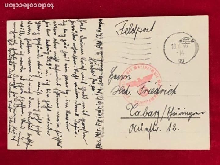 Postales: Postal original, Kriegsmarine, marina de guerra alemana - Foto 2 - 162486230