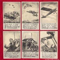 Postales: SERIE DE 6 POSTALES ORIGINALES DE LA LUFTWAFFE, AVIACIÓN ALEMANA. Lote 162491110
