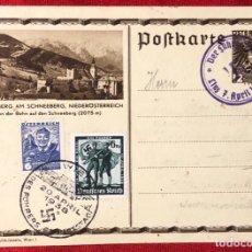Postales: TARJETA ORIGINAL ALEMANA-AUSTRIACA, SELLÓ AUSTRÍACO Y CANCELACIÓNES PROPAGANDA DEL FUHRER. Lote 162815290