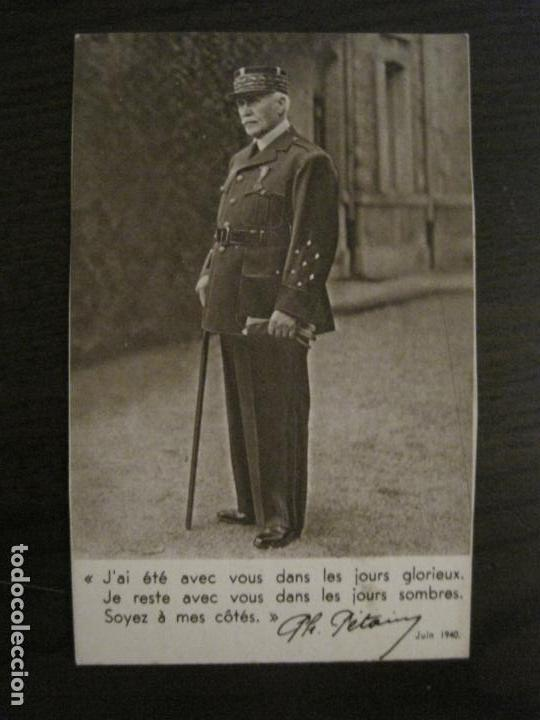 Postales: EL GENERAL FRANCES PHILLIPE PETAIN-II GUERRA MUNDIAL-POSTAL ANTIGUA-VER FOTOS-(59.193) - Foto 1 - 162965642