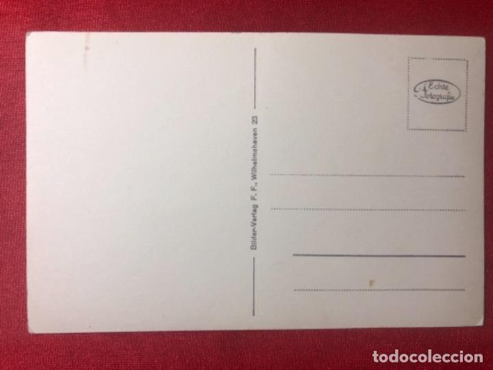 Postales: Postal original de la Kriegsmarine, marina de guerra alemana - Foto 2 - 162986474