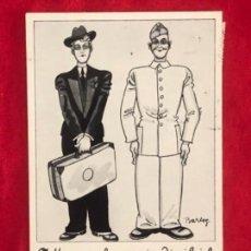 Postales: POSTAL ALEMANA HUMOR EN LA WEHRMACHT, ORIGINAL DE ÉPOCA. Lote 163428422
