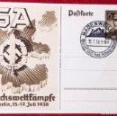 Postales: POSTKARTE ORIGINAL, TARJETA DE PROPAGANDA POSTAL ALEMANA. Lote 163532978