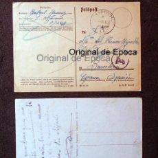 Postales: (JX-190551)DOS TARJETAS POSTALES ENVIADAS DESDE EL FRENTE RUSO , DIVISIÓN AZUL , MADRINA DE GUERRA. Lote 164212030
