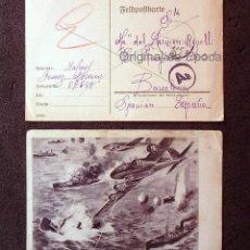 Postales: (JX-190552)DOS TARJETAS POSTALES ENVIADAS DESDE EL FRENTE RUSO , DIVISIÓN AZUL ,MADRINA DE GUERRA .. Lote 164212846