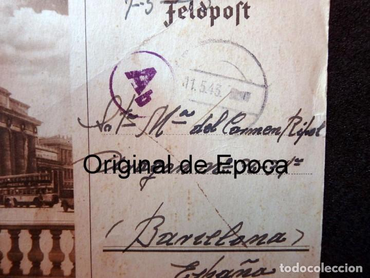 Postales: (JX-190553)Tarjeta postal enviada desde el frente ruso , 7-5-1943 , División Azul,madrina de guerra. - Foto 2 - 164213818