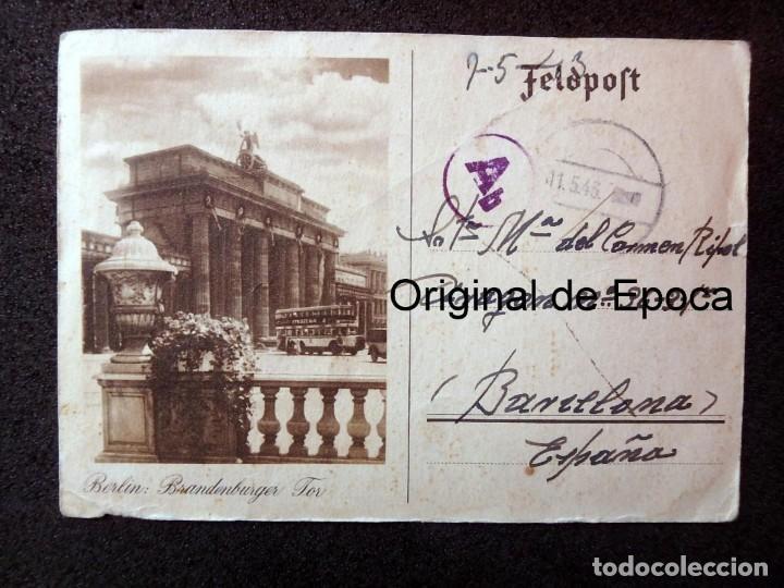 Postales: (JX-190553)Tarjeta postal enviada desde el frente ruso , 7-5-1943 , División Azul,madrina de guerra. - Foto 5 - 164213818