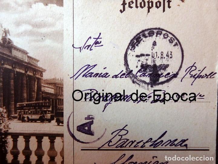 Postales: (JX-190557)Tarjeta postal enviada desde el frente ruso,29-7-1943,División Azul,madrina de guerra. - Foto 2 - 164217018