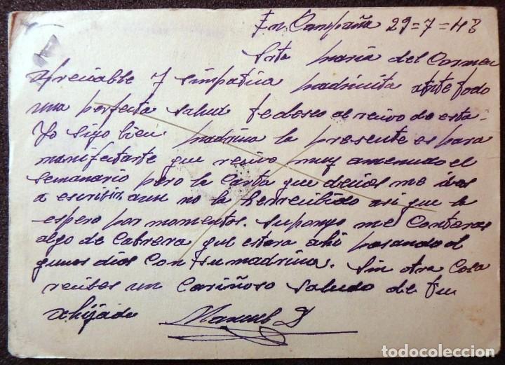 Postales: (JX-190557)Tarjeta postal enviada desde el frente ruso,29-7-1943,División Azul,madrina de guerra. - Foto 3 - 164217018