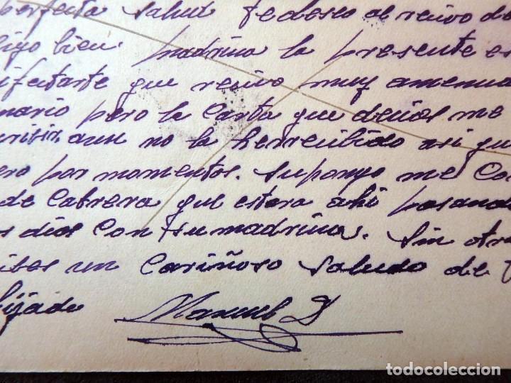 Postales: (JX-190557)Tarjeta postal enviada desde el frente ruso,29-7-1943,División Azul,madrina de guerra. - Foto 4 - 164217018