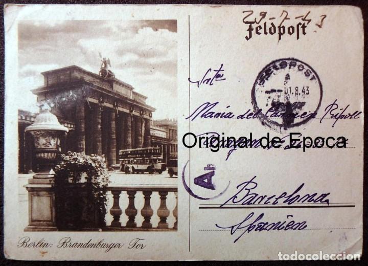 Postales: (JX-190557)Tarjeta postal enviada desde el frente ruso,29-7-1943,División Azul,madrina de guerra. - Foto 5 - 164217018