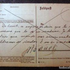 Postales: (JX-190567)TARJETA POSTAL ENVIADA DESDE EL FRENTE RUSO,9-4-1943,DIVISIÓN AZUL,MADRINA DE GUERRA.. Lote 164557218