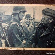 Postales: (JX-190576)TARJETA POSTAL ENVIADA DESDE MADRID POR UN CAMARADA FALANGISTA (FIRMADA LUIS DE VAL ).. Lote 164569730