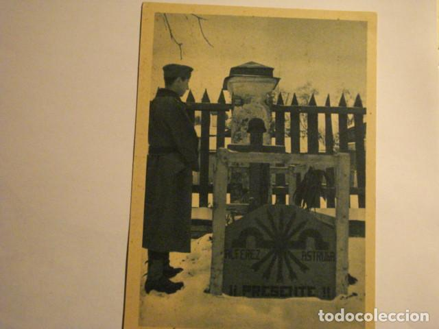 ESPAÑA DIVISION AZUL EN RUSIA 2ª GUERRA MUNDIAL - A TRAVES DE LAS TUMBAS - MIRA OTRAS (Postales - Postales Temáticas - II Guerra Mundial y División Azul)