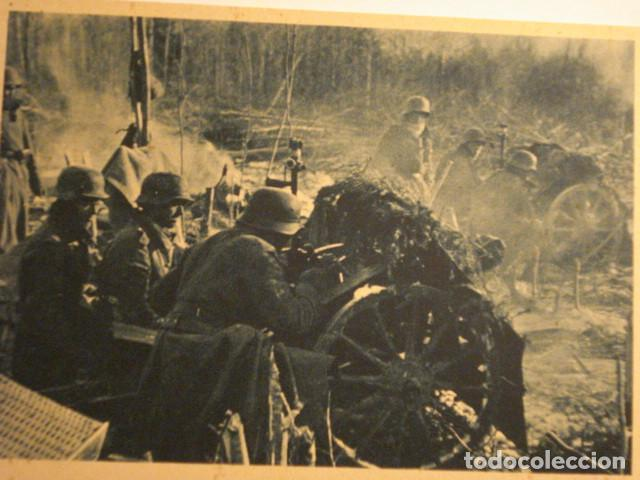 ESPAÑA DIVISION AZUL EN RUSIA 2ª GUERRA MUNDIAL - CAÑONES DE INFANTERIA - MIRA OTRAS (Postales - Postales Temáticas - II Guerra Mundial y División Azul)