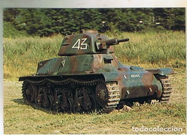 HOTCHKISS H.39 DEL MUSEO DE BLINDADOS DE SAUMUR (Postales - Postales Temáticas - II Guerra Mundial y División Azul)