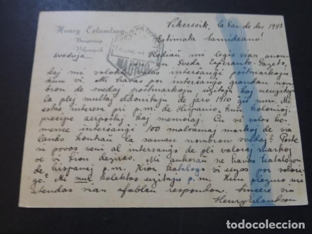 Postales: POSTAL 1943 DIRIGIDA DE SUECIA A MADRID CON CENSURA NAZI Y MARCA TINTA INVISIBLE CENSURA GUBERNATIVA - Foto 2 - 175866007