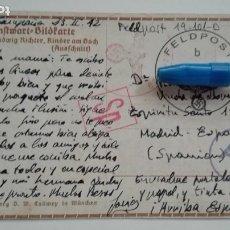 Postales: DIVISIÓN AZUL : FELDPOST, POSTAL DE DIVISIONARIO A SU MADRE. EN CAMPAÑA, 1942. Lote 176957972