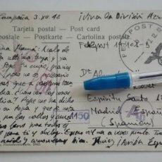 Postales: DIVISIÓN AZUL : FELDPOST, DE DIVISIONARIO, EN CAMPAÑA 1942. CURIOSAMENTE POSTAL DE GRANADA. Lote 177019884