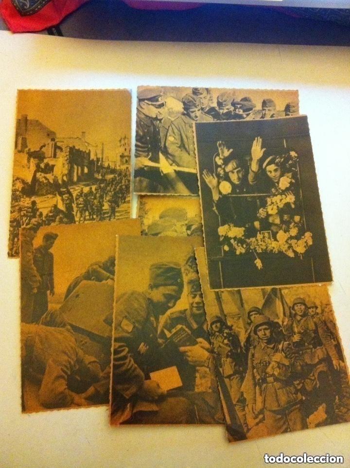 DIVISIÓN AZUL- LOTE 7 POSTALES TINTADAS (Postales - Postales Temáticas - II Guerra Mundial y División Azul)