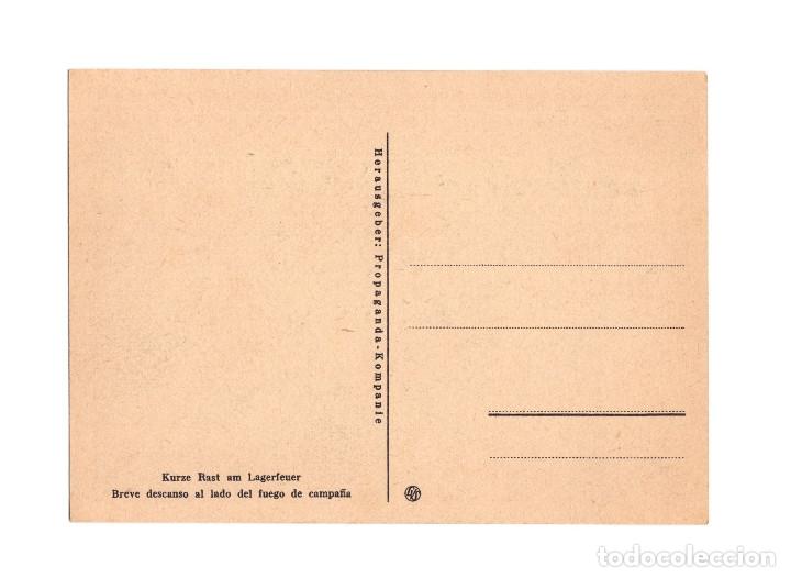 Postales: DIVISIÓN AZUL. BREVE DESCANSO AL LADO DEL FUEGO DE CAMPAÑA. - Foto 2 - 178387300